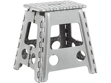 Zeller Present Klapphocker aus Kunststoff, 38,5x31,5x39 cm, grau, hellgrau