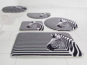 Bruno Banani Badematte »Zebra« , Höhe 14 mm, Memory Schaum, schwarz, 14 mm, schwarz-weiß
