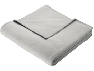 BIEDERLACK Wohndecke »Orion Cotton«, mit Veloursband-Einfassung, silberfarben, Baumwolle-Kunstfaser, silberfarben
