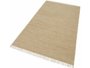 THEKO Teppich »Happy Cotton«, rechteckig, Höhe 5 mm, beidseitig verwendbar, natur, 5 mm, natur-sand