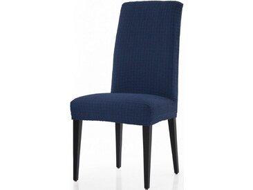 sofaskins Stuhlhusse »Dario«, mit leichtem Struktur-Effekt (2 Stück), blau, Mischgewebe, dunkelblau