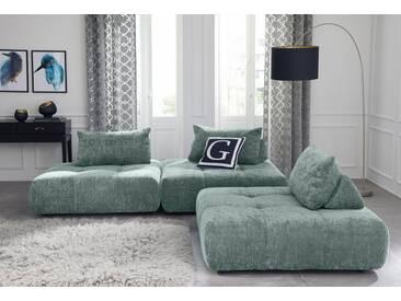 Guido Maria Kretschmer Home&Living GMK Home & Living Polsterecke »Eidum«, variabel, gleichschenklig, inklusive Kissen, grün, Gleichschenklig, mint
