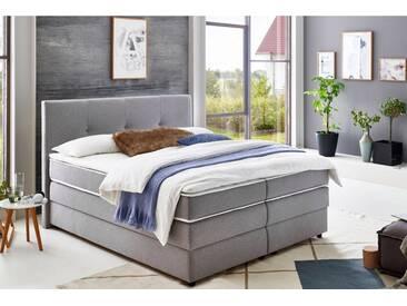 ATLANTIC home collection Atlantic Home Collection Boxspringbett mit Bettkasten und Topper, grau, Liegefläche 160x200 cm, Strukturstoff grau