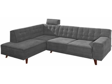 Tom Tailor Ecksofa »Nordic Chic«, grau, 249 cm, Ottomane links, graphite TUS 9