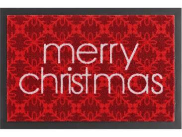 HANSE Home Fußmatte »Merry Christmas«, rechteckig, Höhe 7 mm, rutschhemmend beschichtet, rot, 7 mm, rot