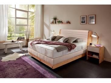 ADA premium Boxspringbett »Chalet«, Grand Comfort TF 1000 PM, natur, 7-Zonen-Tonnentaschenfederkern-Partnermatratze H3, beige RLN 52