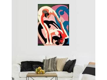 Posterlounge Wandbild - Ernst Ludwig Kirchner »Akrobatenpaar - Plastik«, bunt, Leinwandbild, 90 x 120 cm, bunt