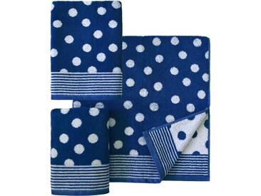 Dyckhoff Handtuch Set, »Dots«, mit Punkten, blau, 3tlg.-Set (siehe Artikeltext), marine