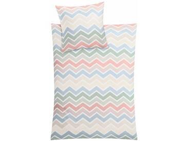 Kleine Wolke Bettwäsche »Piave«, mit graphischen Muster, bunt, 1x 155x220 cm, Mako-Satin, bunt
