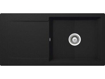 Schock SCHOCK Granitspüle »Pisa«, großes Becken, 100 x 50 cm, schwarz, ohne Restebecken, schwarz