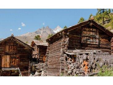 bella jolly JOLLYTHERM Packung: Heizkörperverkleidung »Berghütte«, Flexi-Cover Magnetfolie 60 x 80 cm, bunt, 100 cm, bunt
