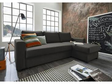 ATLANTIC home collection Atlantic Home Collection Polsterecke mit Bettfunktion, grau, Recamiere links und rechts montierbar, anthrazit
