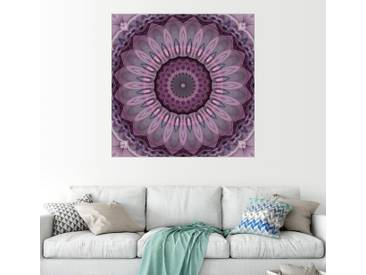 Posterlounge Wandbild - Christine Bässler »Mandala Sensibilität«, lila, Alu-Dibond, 120 x 120 cm, lila