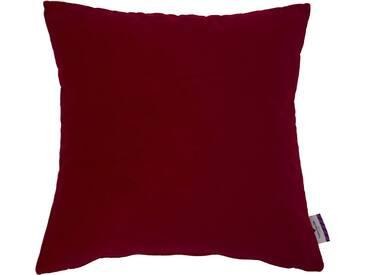 Tom Tailor Kissenhülle »Velvet Linen Pad«, rot, Mischgewebe, dunkelrot