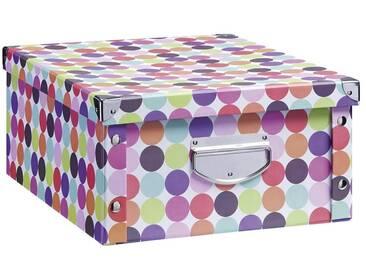 Zeller Present Aufbewahrungsbox »Dots«, 40x33x17 cm, bunt, Ausführung 2, bunt