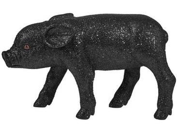 BUTLERS PIGGY »Glitter Schwein 20 cm«, schwarz, Länge 20 x Breite 6,5 x