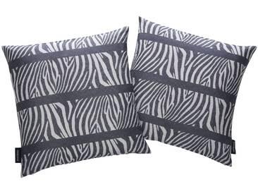 Bruno Banani Dekokissen »Bonga«, 2 Stück, schwarz, Polyester, schwarz-weiß