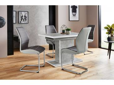 Essgruppenset »Alice G« (5tlg.), bestehend aus 4 Ornella Stühlen ohne Armlehne und dem Alice Esstisch, grau, Beton-Optik/Grau