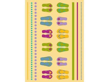 Dyckhoff Handtuch »Flip Flop«, mit Flip Flops, gelb, Frotteevelours, gelb