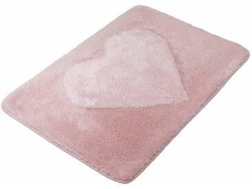 MEUSCH Badematte »Heart« , Höhe 20 mm, rutschhemmend beschichtet, fußbodenheizungsgeeignet, orange, 20 mm, nelke