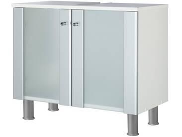 Kesper KESPER Waschbeckenunterschrank »Ravenna«, Breite 65 cm, silberfarben, silberfarben/weiß