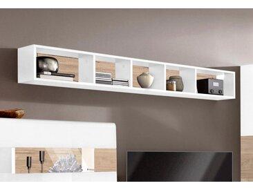 TRENDMANUFAKTUR Wandregal »Toledo«, Breite 169 cm, weiß, weiß matt/ eichefarben San remo