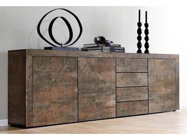 borchardt Möbel Borchardt Möbel Sideboard, Breite 201 cm, braun, Stahlfarben antik matt