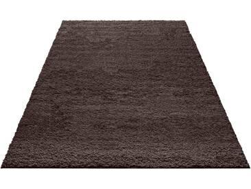 my home Hochflor-Teppich »Bodrum«, rechteckig, Höhe 30 mm, grau, 30 mm, dunkelgrau