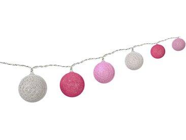 Goobay 10er LED Lichterkette »Cotton Balls, batteriebetrieben«, weiß, Weiß