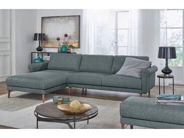 Hülsta Sofa hülsta sofa Polsterecke »hs.450« im modernen Landhausstil, Breite 282 cm, blau, Recamiere links, wasserblau/steingrau