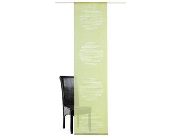 DEKO TRENDS Schiebegardine »Padova«, Klettband (1 Stück), ohne Befestigungszubehör, grün, Klettband, halbtransparent, grün