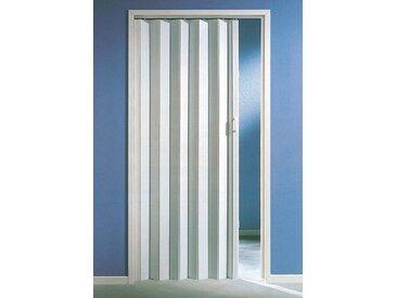 Kunststoff-Falttür , Höhe nach Maß, weiß ohne Fenster, weiß, 88.5 cm, weiß