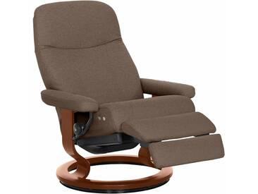 Stressless® Relaxsessel »Garda« mit Classic Base und LegComfort™, Größe L, mit Schlaffunktion, natur, Fuß braun, dark beige