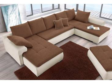 COLLECTION AB Wohnlandschaft, natur, 375 cm, beige/braun