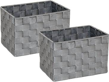 Franz Müller Flechtwaren Aufbewahrungsbox (Set, 2 Stück), grau, 23x18x15,5 cm, grau