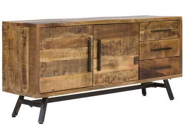 massivum Sideboard aus Mango massiv »Woodheven«, natur, 160x71x40cm, natur