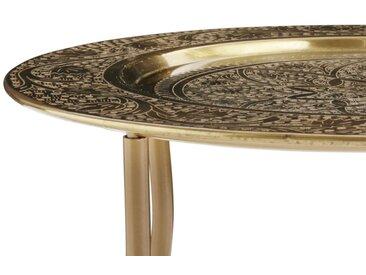 heine home Tablett-Tisch abnehmbar vom Ständer, goldfarben, H/Ø ca. 36/40,5 cm, klein, H/Ø ca. 36/40,5 cm, klein, goldfarben