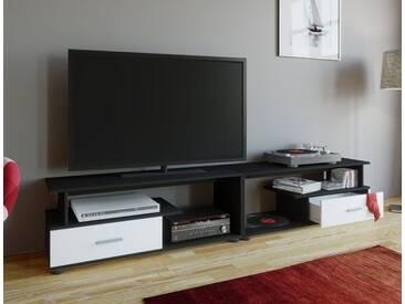 VCM TV-Lowboard Rimini Maxi, weiß, Schwarz / Weiß