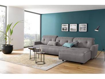 Hülsta Sofa hülsta sofa Polsterecke groß »hs.400« mit Rückenverstellung, grau, Recamiere rechts, lichtgrau