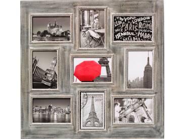 Bilderrahmen »Grande Ville«, für 6 Bilder (Set, 9 Stück), braun, 10x15 cm, braun
