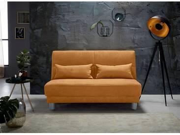 INOSIGN Schlafsofa »Gina« mit einem Handgriff vom Sofa zum Bett, orange, 140/195 cm, mango