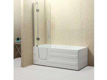 Badewannenaufsatz, chromfarben, 3 cm, 3 cm