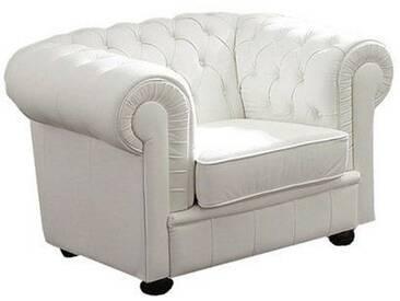 Max Winzer® Chesterfield Sessel »Kent«, mit edler Knopfheftung, weiß, weiß