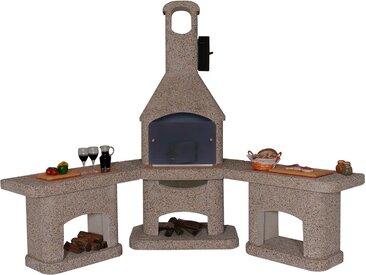 WELLFIRE Gartenkamin »Außenküche Nova Quatro«, braun, braun