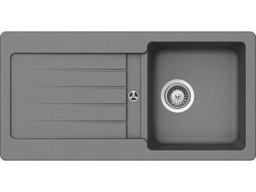 Schock SCHOCK Granitspüle »Family«, ohne Restebecken, 86 x 43,5 cm, grau, ohne Restebecken, grau