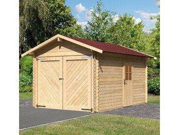 Karibu KARIBU Einzel-Garage »Stephan«, BxT: 338x489 cm, Einfahrtshöhe: 193 cm, mit Dachschindeln, natur, natur
