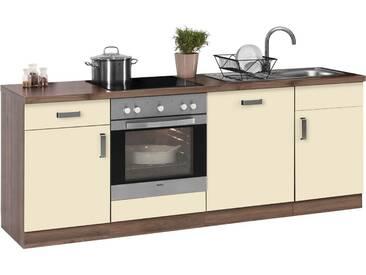 wiho Küchen Küchenzeile »Tacoma«, ohne E-Geräte, Breite 220 cm, gelb, vanillefarben