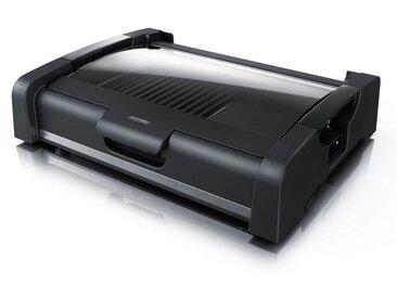 Arendo Gourmet Tischgrill mit Glasabdeckung »Elektrogrill 1650W«, schwarz, schwarz