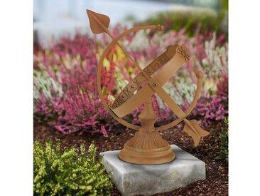 EASYmaxx Gartendeko Rost-Optik Sonnenuhr 30cm