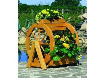promadino Promadino Pflanzkasten »Blumenrad«, braun, 59 cm x 63 cm x 55 cm, braun